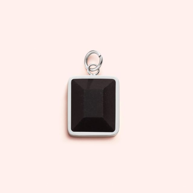 Black stone charm