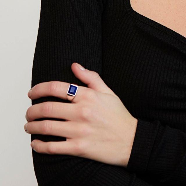 Lapis lazuli signet ring