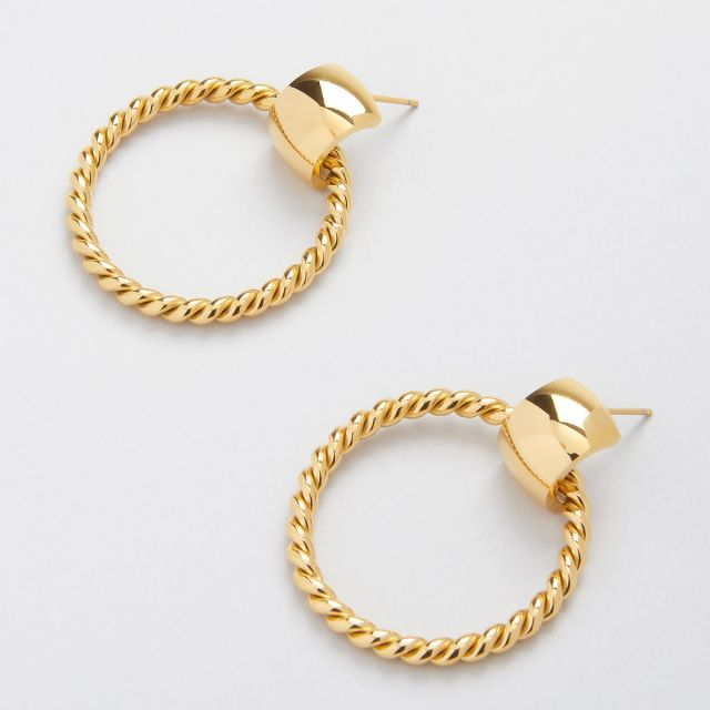 Donna twisted hoops