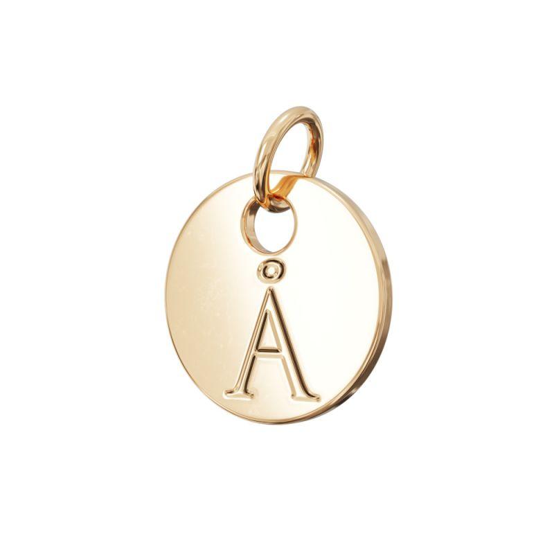 Gold Letter Charm Å