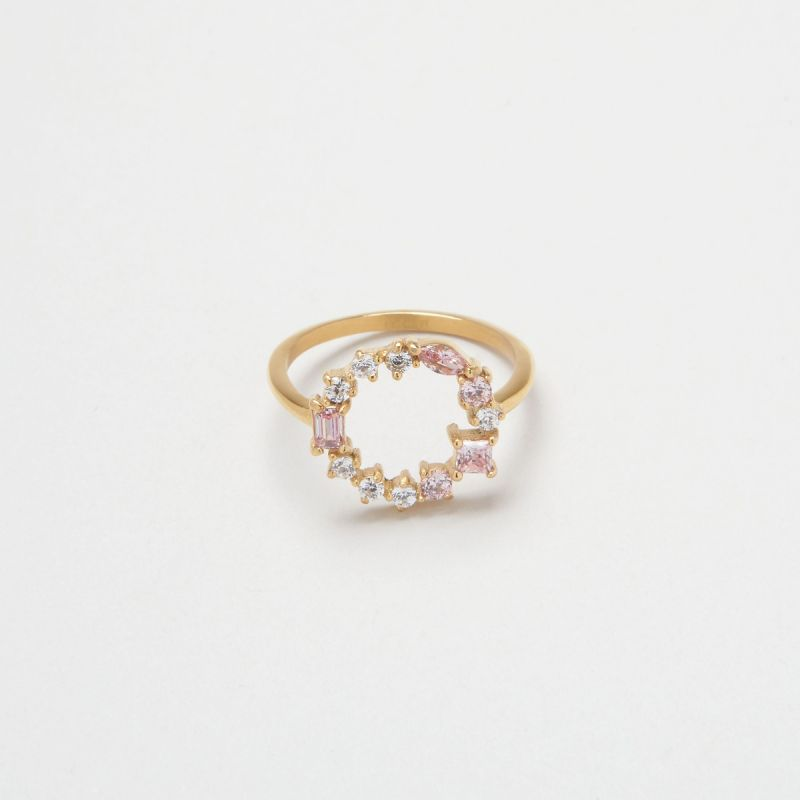 Blush Morganite Cluster ring 48EU