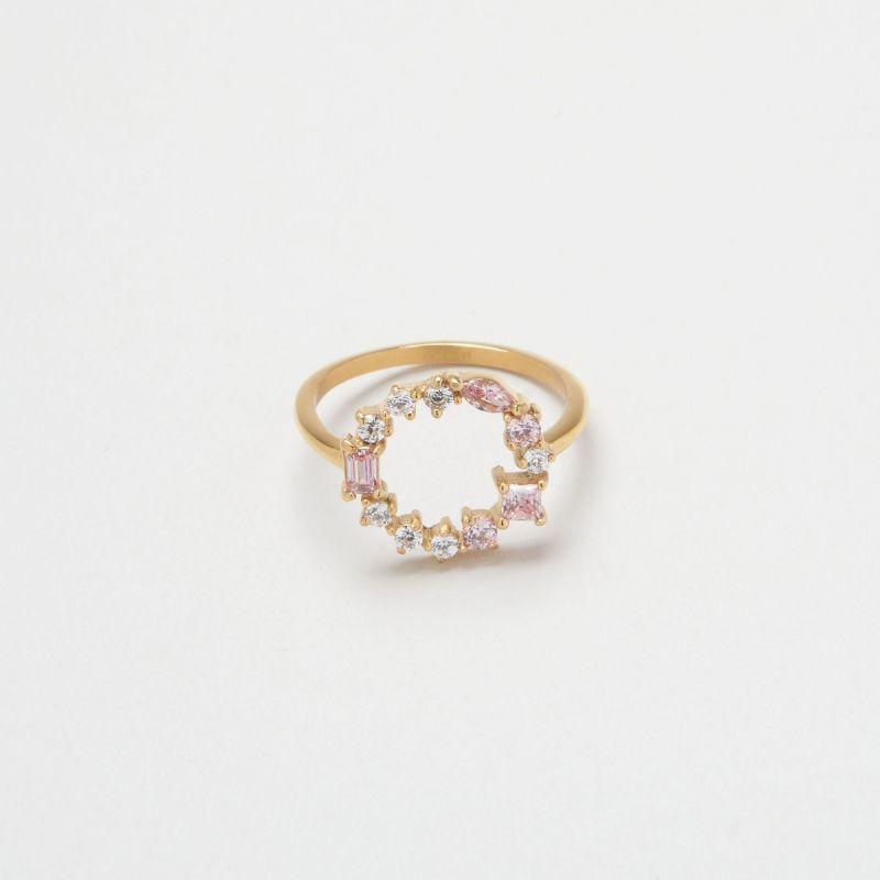 Blush Morganite Cluster ring 52EU