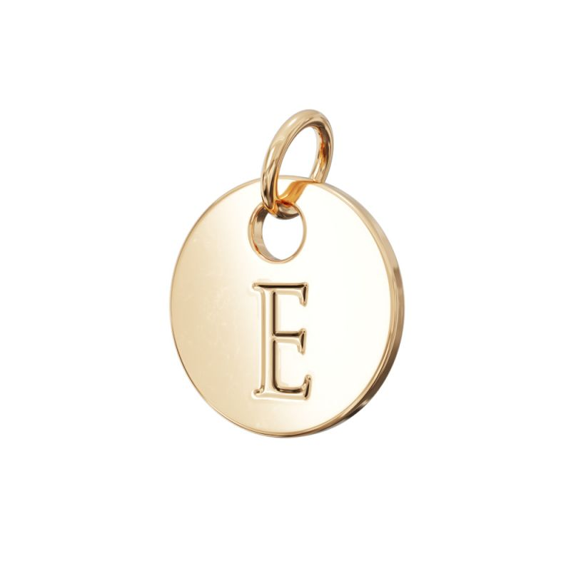 Gold Letter Charm E