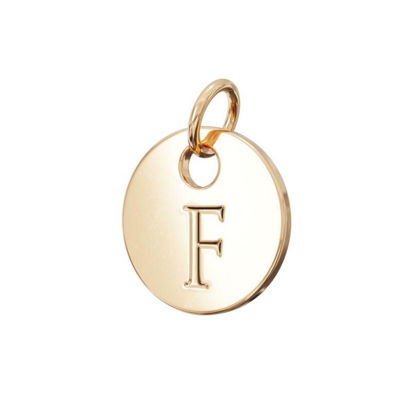 Gold Letter Charm F