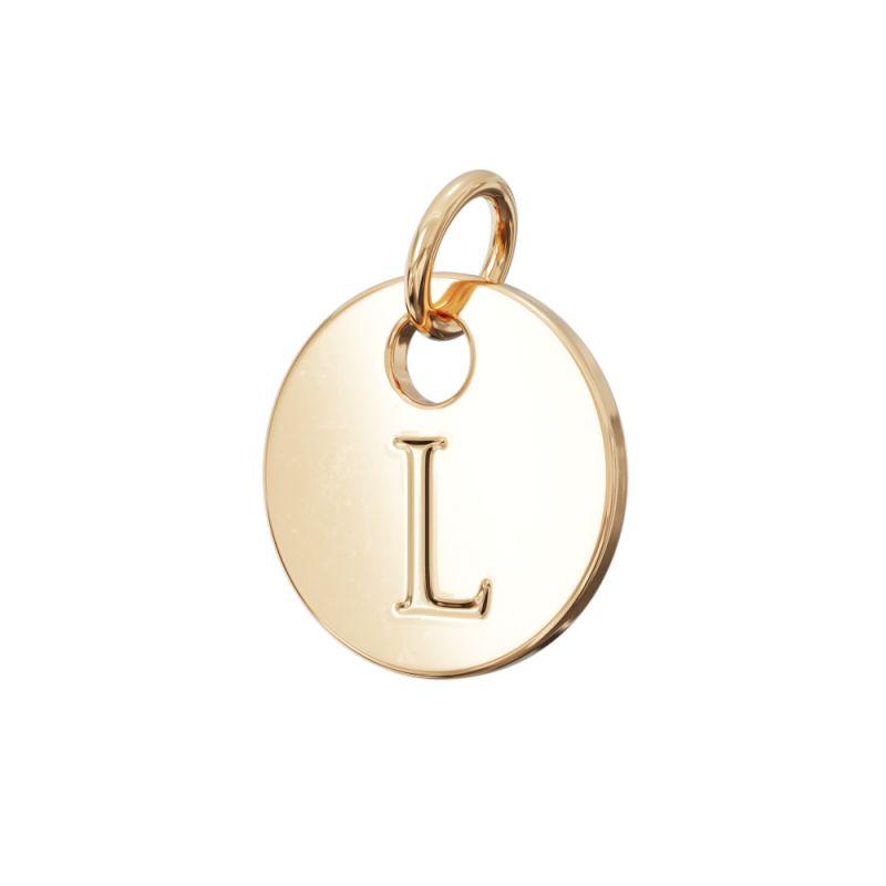 Gold Letter Charm L