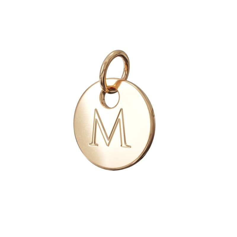 Gold Letter Charm M