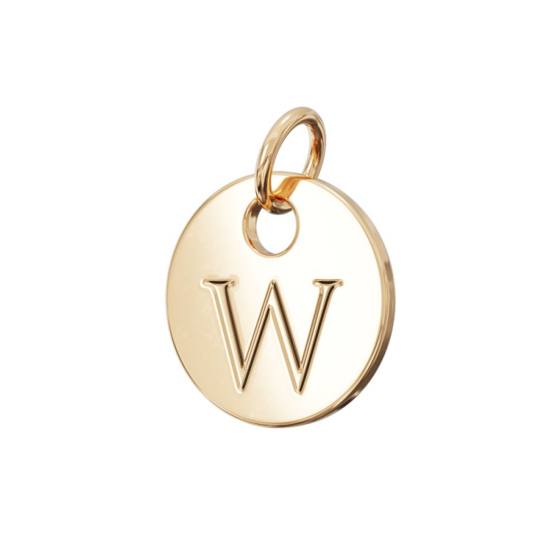 Gold Letter Charm W