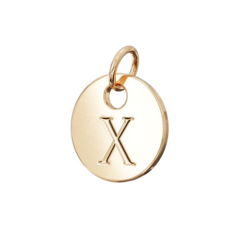 Gold Letter Charm X