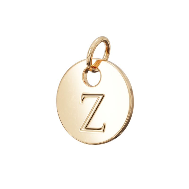 Gold Letter Charm Z