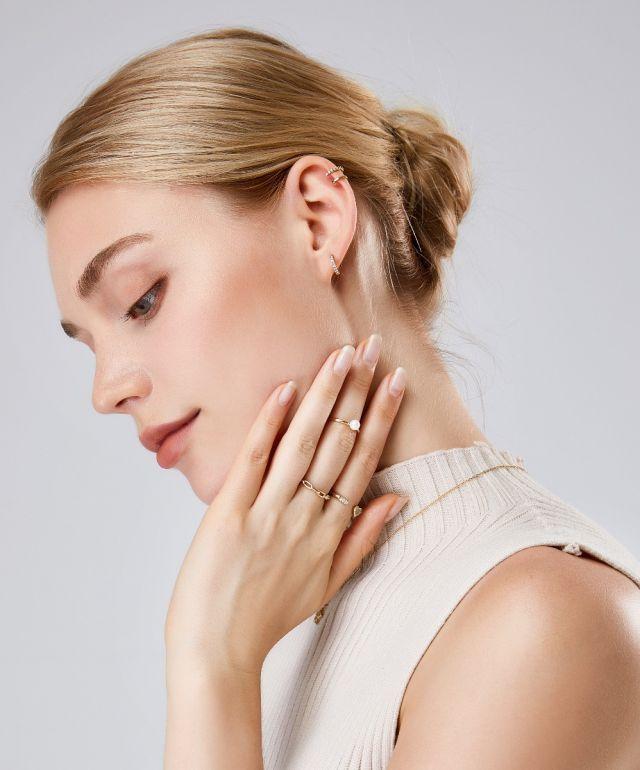 Alva Double Band ear cuff