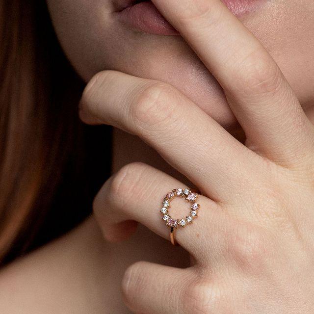 Blush Morganite Cluster ring
