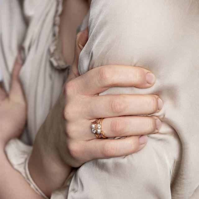 Blush Morganite Trio ring