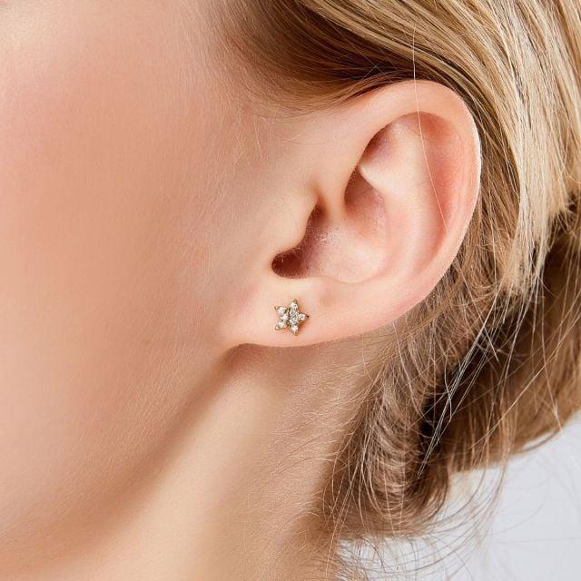 Trilogy Star ear studs