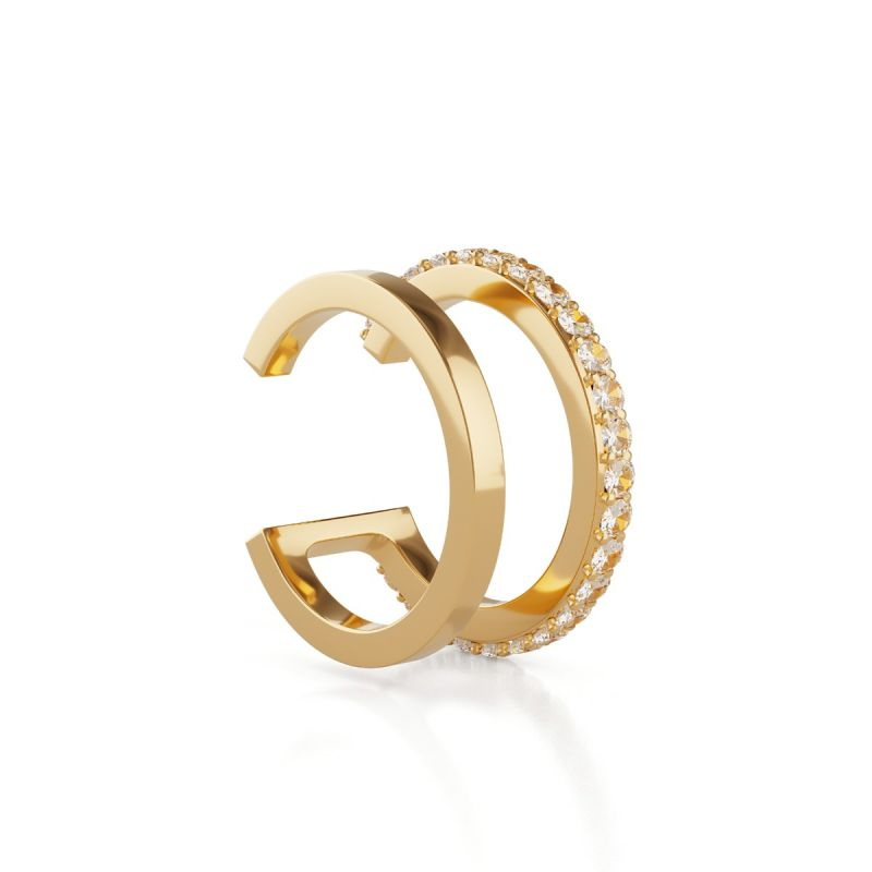 Alva Double Band ear cuff