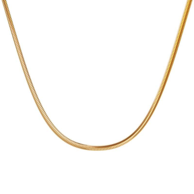 Flat snake chain
