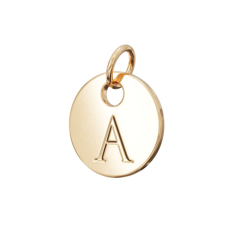 Gold Letter Charm A