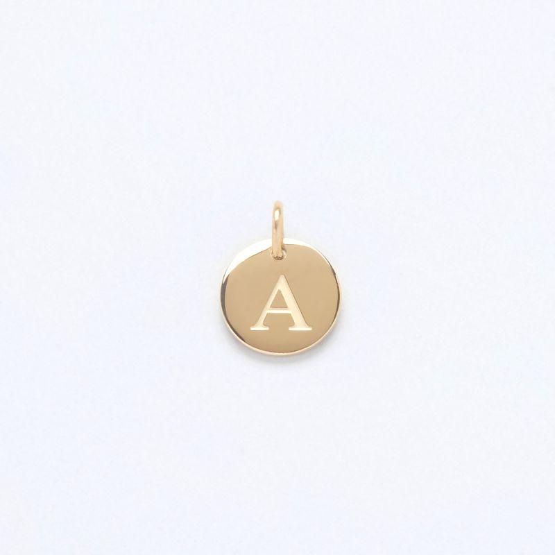 Gold Letter Charm