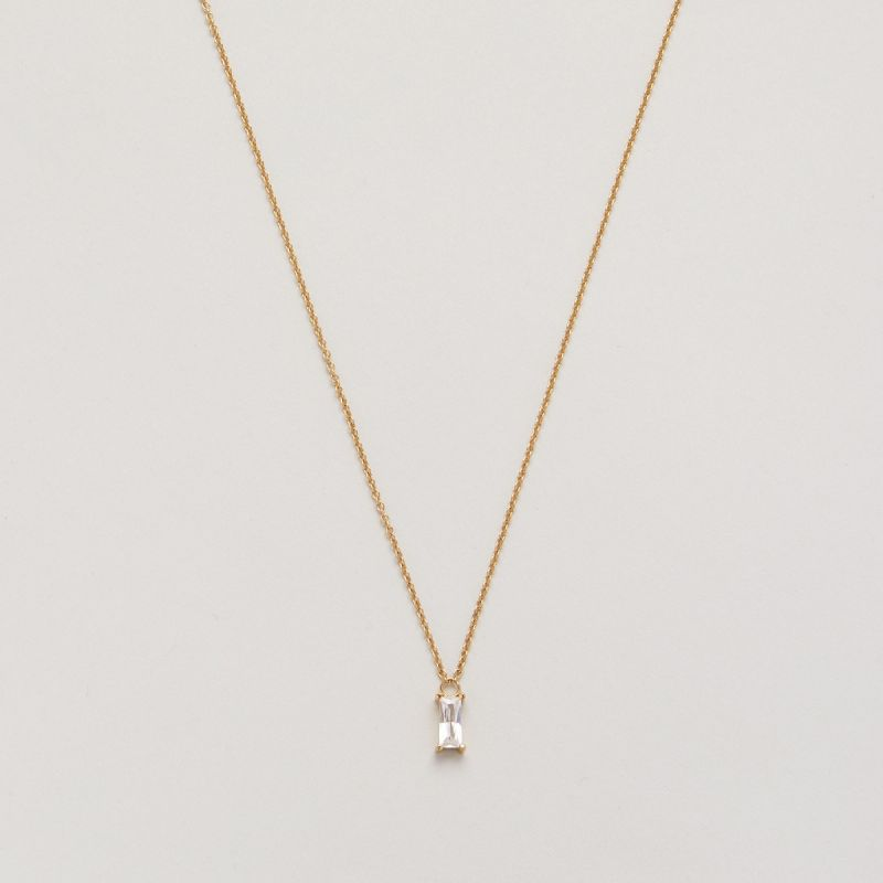 Icon solitaire necklace
