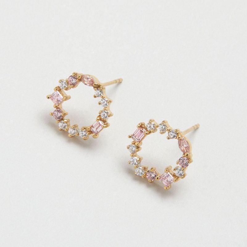 Blush Morganite Cluster ear studs