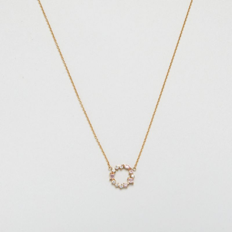Blush Morganite Cluster necklace