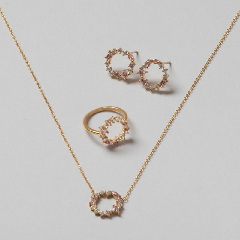Blush Morganite Cluster set