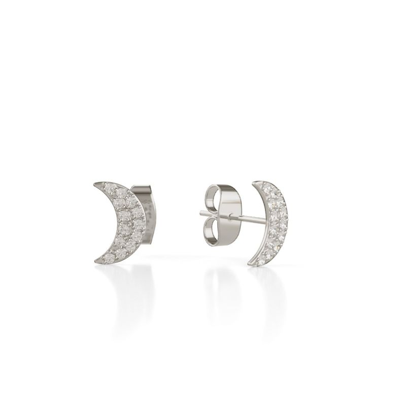 Trilogy Moon ear studs