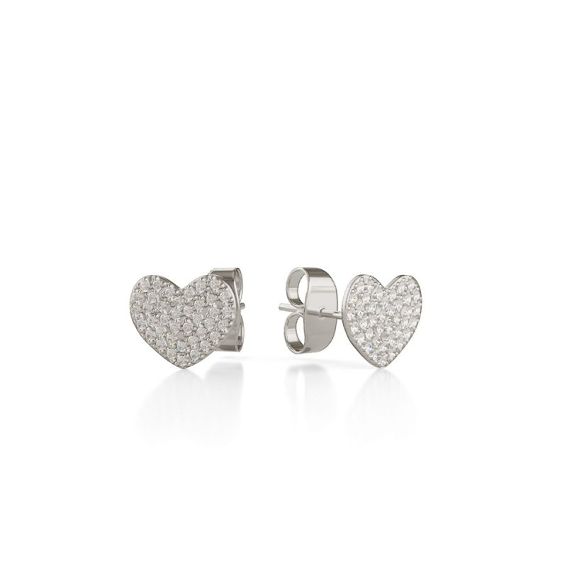 Trilogy Heart ear studs