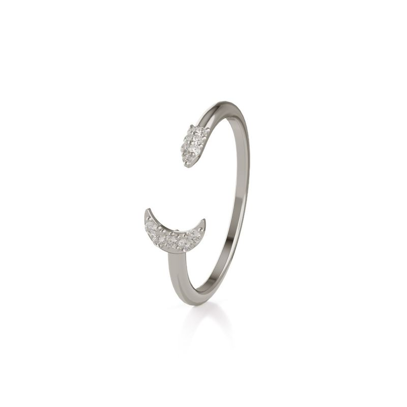 Trilogy Moon ring
