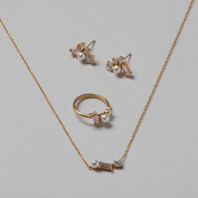 Blush Morganite Trio set