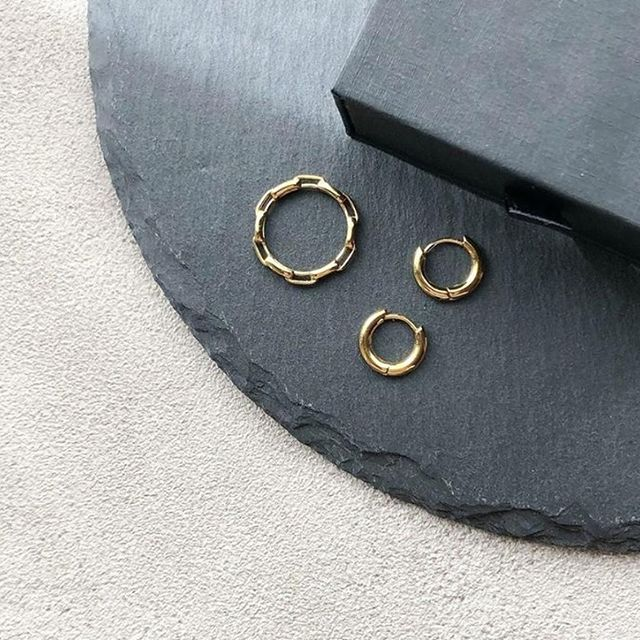 For everyday wear - Link ring & Sigrid hoops.