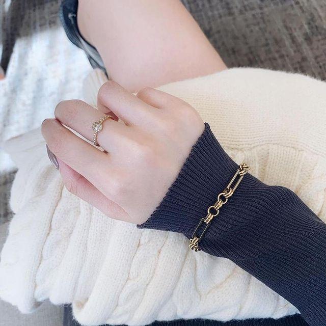 Alva ring + Link bracelet =