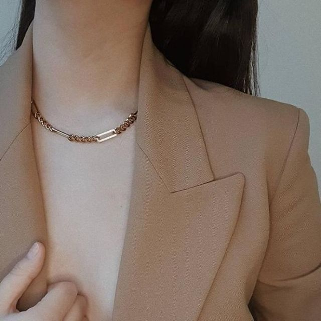Let our Link necklace and Link Hoops complement your powerful look!