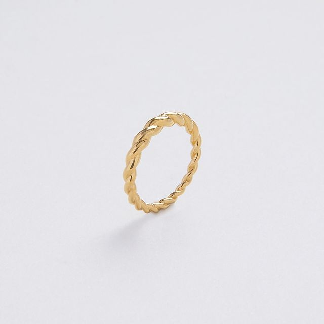 New in! Donna Asymmetric ring, dainty, with a twist, slightly asymmetric; the perfect stackable ring is waiting for you